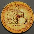 Turkey 10 Kurus FAO, 1974 Gem Unc~Ataturk On Tractor~Oat Sprigs~Free Shipping