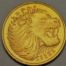 Ethiopia 5 Cents, EE1969 (1977), Gem Unc~Roaring Lion~Free Shipping