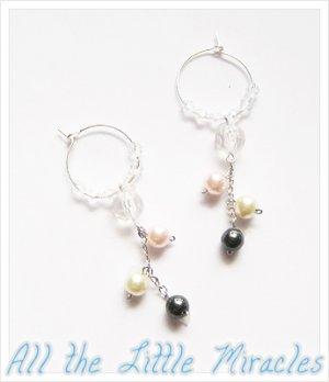 J39: Cascading Pastel Pearl Hoops