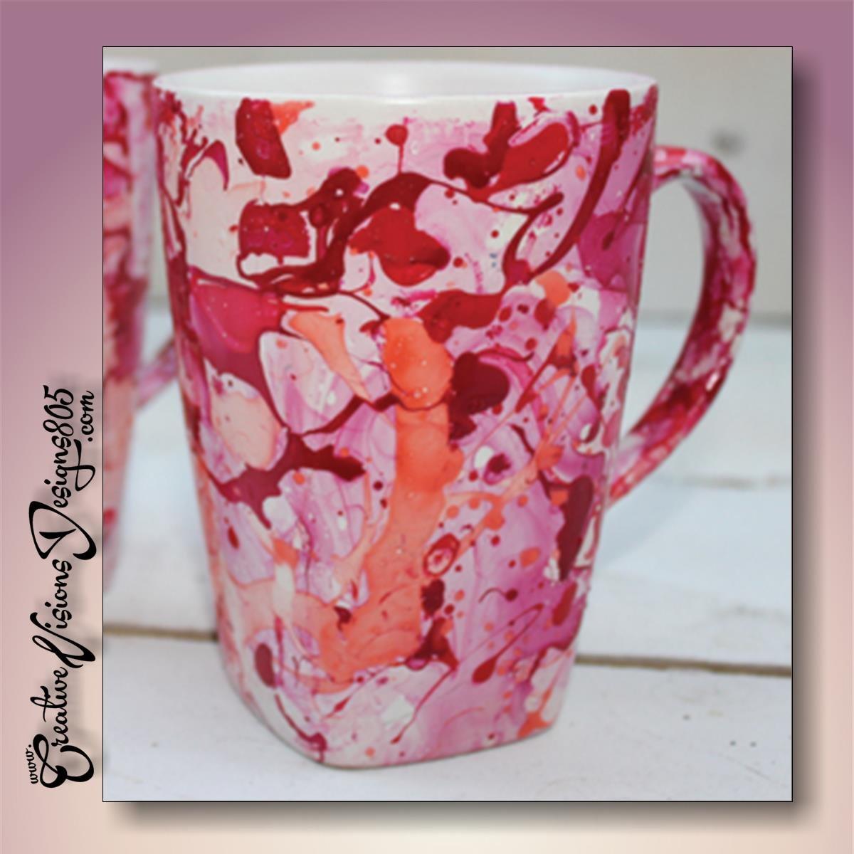 MARBLED - hand decorated coffee mug