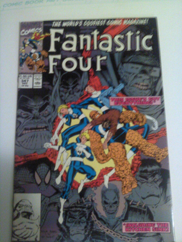 Fantastic Four #347 1st New FF wolverine/hulk/Ghostrider/spiderman arthur adams