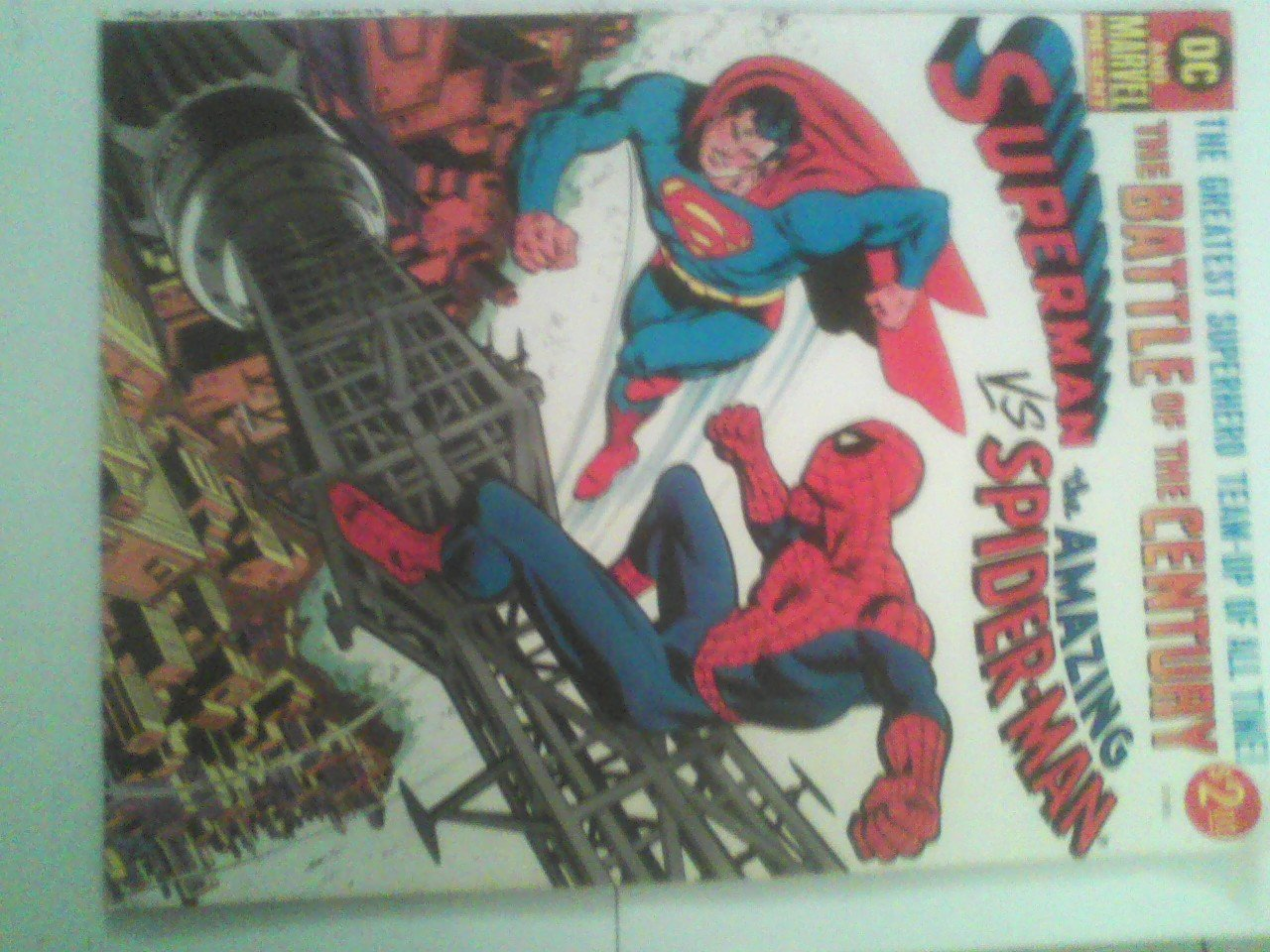 Oversized 1976  1st Superman Vs The Amazing Spider-man,Doc ock lex luthor,