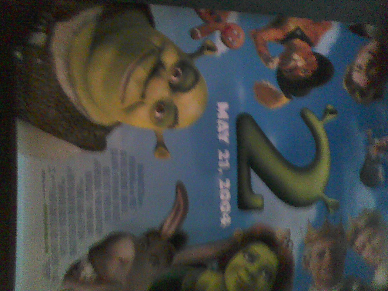 Shrek 2 Movie Poster Approx 4 Feet By 5 Feet 9 Inches