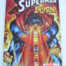 Superman #218 Superman's powers out of conrol Burn!