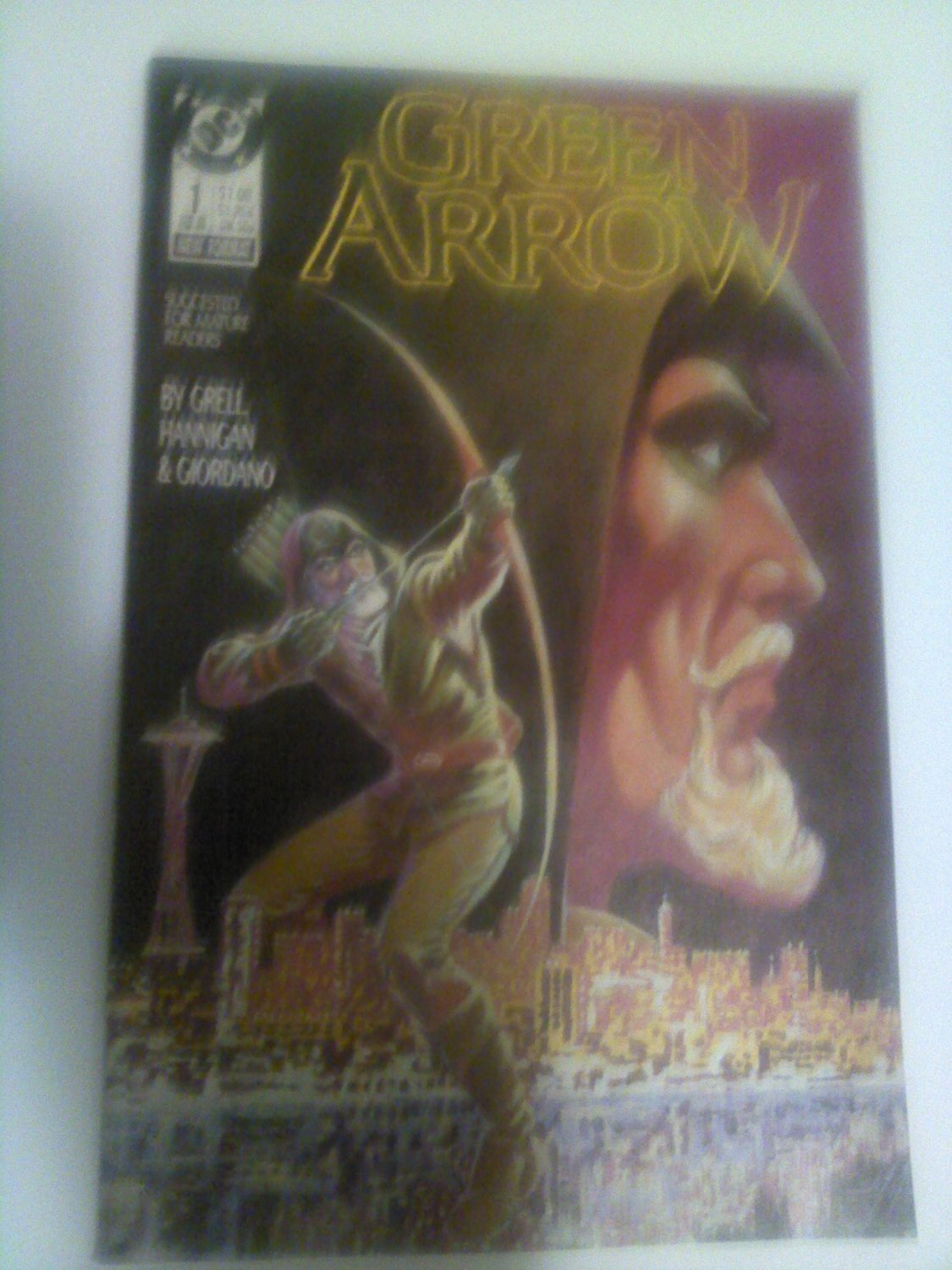 Green Arrow Vol.2 #1 Mike Grell Hunters Moon pt.1,,#9,#14,#128,Batman + Arsenal