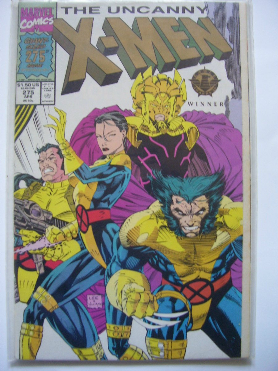 Uncanny X-men #275 Double-sized winner of the Eagle Award for 1990 Claremon/Lee
