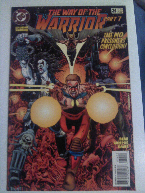 Guy Gardner Warrior #34 Way of the Warrior pt.7 Take no prisoner conclusion;Lobo