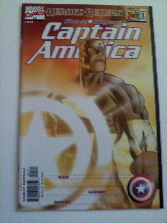 Captain America #1 Heroes Return Variant Cover Waid/Garney Vs Ladytstrike