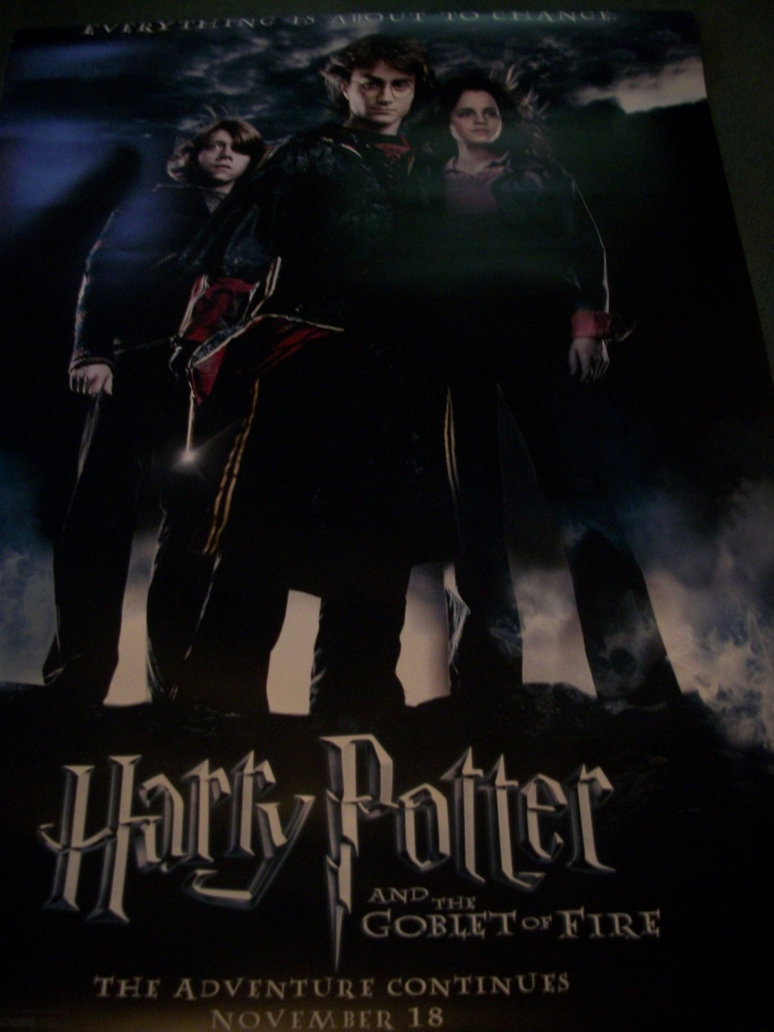 Harry Potter and the Goblet of Fire Original Movie Poster Approx. 48 X 69
