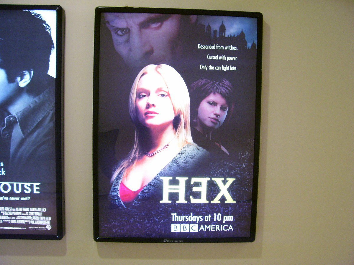 Hex Tv Show Poster Approx. 4 feet by 5 feet 9 inches
