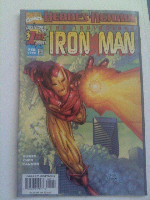 Iron Man #1 Heroes Return Busiek/Chen