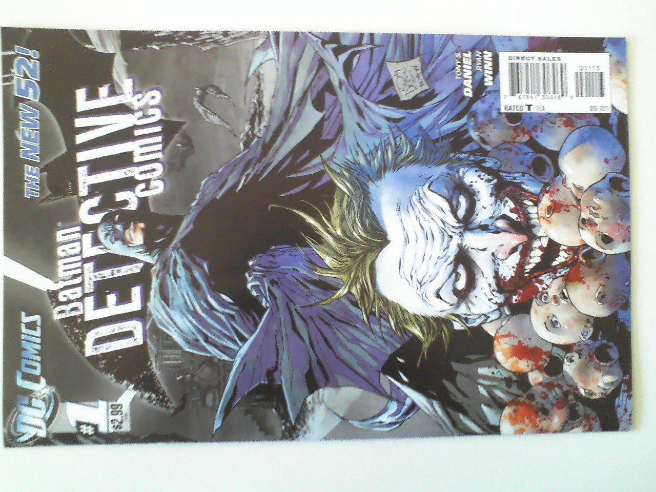 Detective Comics #1 The new 52 Joker #2, #23 Variant Sketch Cover ,#627