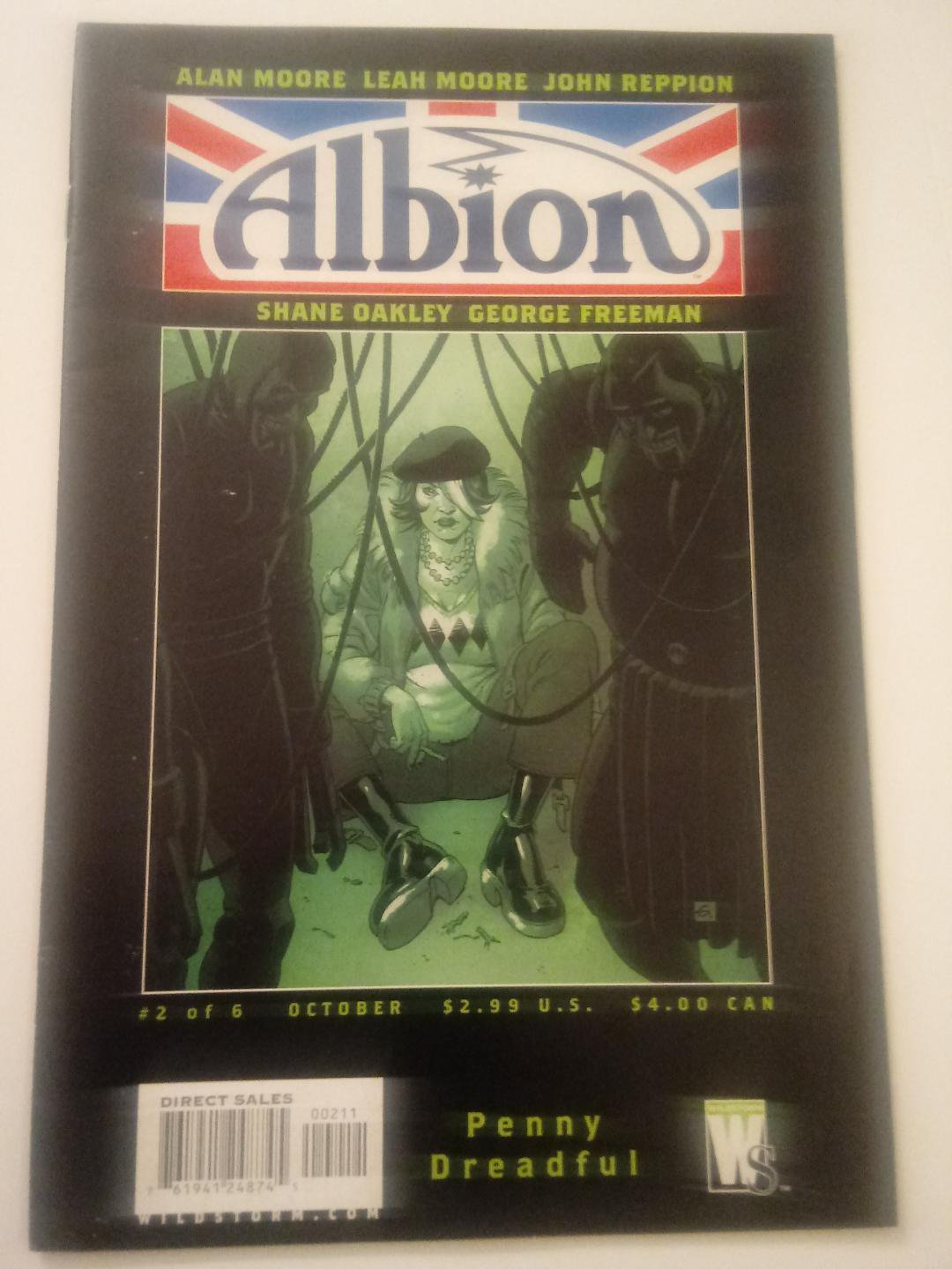 Albion #2 plot by alan moore