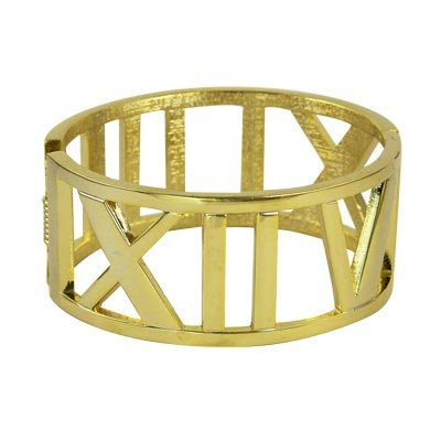 FAMOUS DESIGNER GOLD ATLAS STYLE BANGLE BRACELET