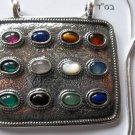 Big Breastplate Hoshen Shield Pendant Sterling Silver 925