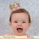 Pink Blue India Birthday Crown | 1st Girl Birthday Crown | Gold + Pink Crown