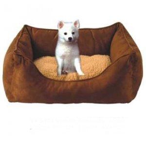 Brown Suede Pooch Bed