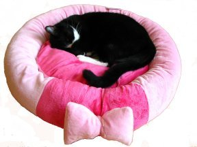 Pink Bow Pooch Bed