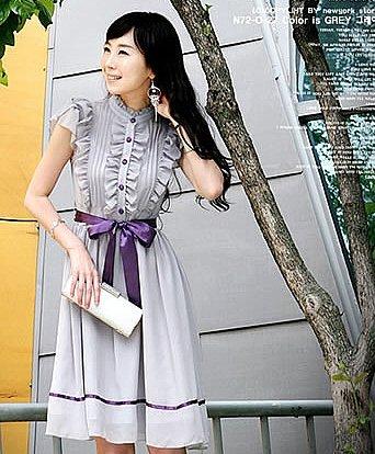 D0065 - Chiffon + Satin Dress