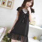 D0069  -Cotton + Chiffon Dress