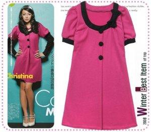 D0087 - Knitted Woolen Dress