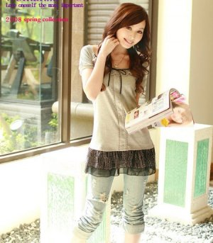 B0095 cotton chiffon blouse