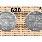 """1987 Egypt Silver Coins """" First African Subway-Cairo Subway  """" UNC  ,5 P, #KM620"""
