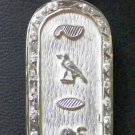 PUT YOUR NAME on 925 Silver Extravagance Personalized Cartouche W.Gems