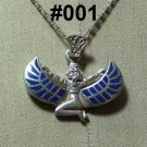 Hall marked Egyptian Pharaonic Silver Pendant ,Isis,Udjat's Eye ,Ankh And Tut