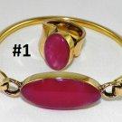 Hand Made Egyptian costume Jewlery Bracelete&Ring with German Gem,Brass Ethnic