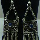 Hall marked Egyptian, Authentic,Bedouin Siwa Silver Earrings variety as pictured