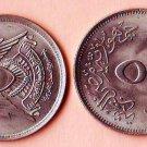 Coins Metal-Munzen-Monedas LOT x7 Coins Egypt  5 Piastres1972-1976 UNC