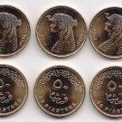 Coins Metal-Munzen-Monedas LOT x10 Egypt QUEEN CLEOPATRA Y2008 Coins UNC