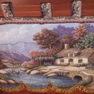 Gobelin Hand Beaded Large Syrian Wall Tapestry