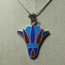 "Hall marked Egyptian Pharaonic Silver Pendant "" Lotus & Cartouche "" , Variety"