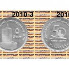 """2010 Egypt Silver Coins """" 50th Anniversary of The Egyptian Television """" UNC,5 P"""