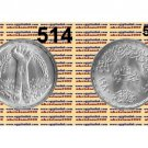 "1980 Egypt Silver Coins "" President Sadat's Corrective Revolution""UNC KM#514,1 P"