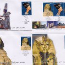 "Lot x4 FDC Egypt Egipto Египет Ägypten 2004 New Unused""Treasure of Egypt Stamps"""