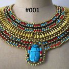 Egyptian Queen Cleopatra style Pharaoh's Necklace/Collar Handmade, Fast shipping