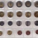 Egypt Coins Metal-Munzen-Monedas - LOT x20 Egypt 2004-2015 all Coins All UNC