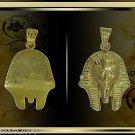 Egyptian Hall Marked 18 Karat Gold pendant, Egypt Pharao's Kings , King Tut Mask