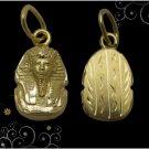 Egyptian Hall Marked 18 Karat Solid Gold pendant,  King Tut Bust