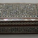 Egyptian. Islamic Mother of Pearl Mosaic Inlaid Wood Jewelry Box