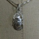 Hall marked Egyptian, Pharaonic, Authentic Silver Pendant , Scarab , Ankh