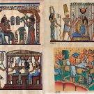 "Wholesale Lot of 50 Egypt Египет Ägypten Papyrus HandMade Painted 20x30Cm(8x12"")"