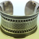 Hall marked Egyptian SEWEI Silver Bracelet, 925 Sterling Silver Islamic Design