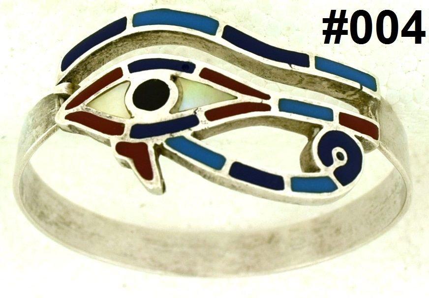 Hall marked Egypt �gypten Pharaoh Silver Bracelet,Eye of Horus and Real Gems