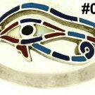 Hall marked Egypt Ägypten Pharaoh Silver Bracelet,Eye of Horus and Real Gems