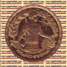 """1974 Egypt Egipto Египет Ägypten Gold Coin """" October 1973 War """", 5 Pound, KM#444"""