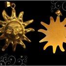 Egyptian Hall Marked 18 Karat Gold pendant, Egypt Statue , The Smile Sun